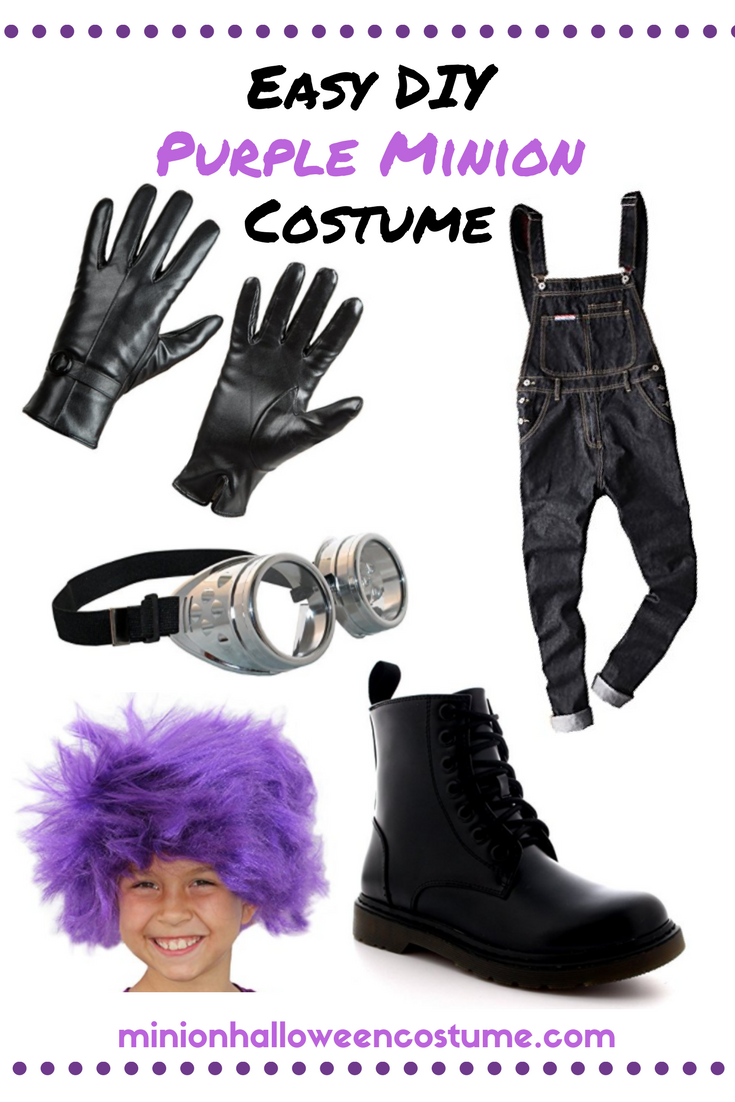 Easy DIY Purple Minion Costume
