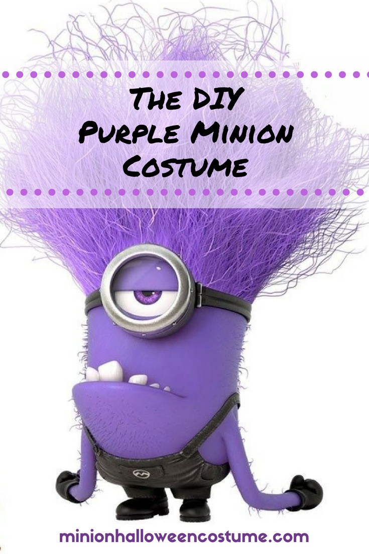 Diy Purple Minion Costume Minion Halloween Costume