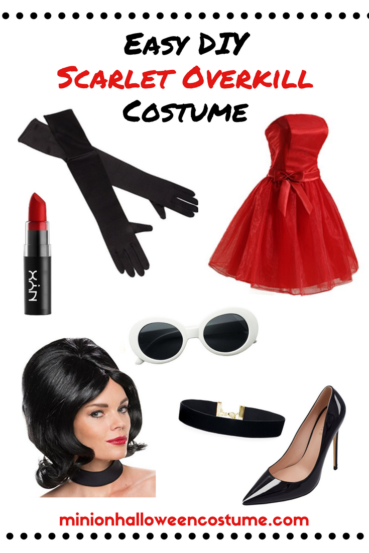 Easy DIY Scarlett Overkill Costume