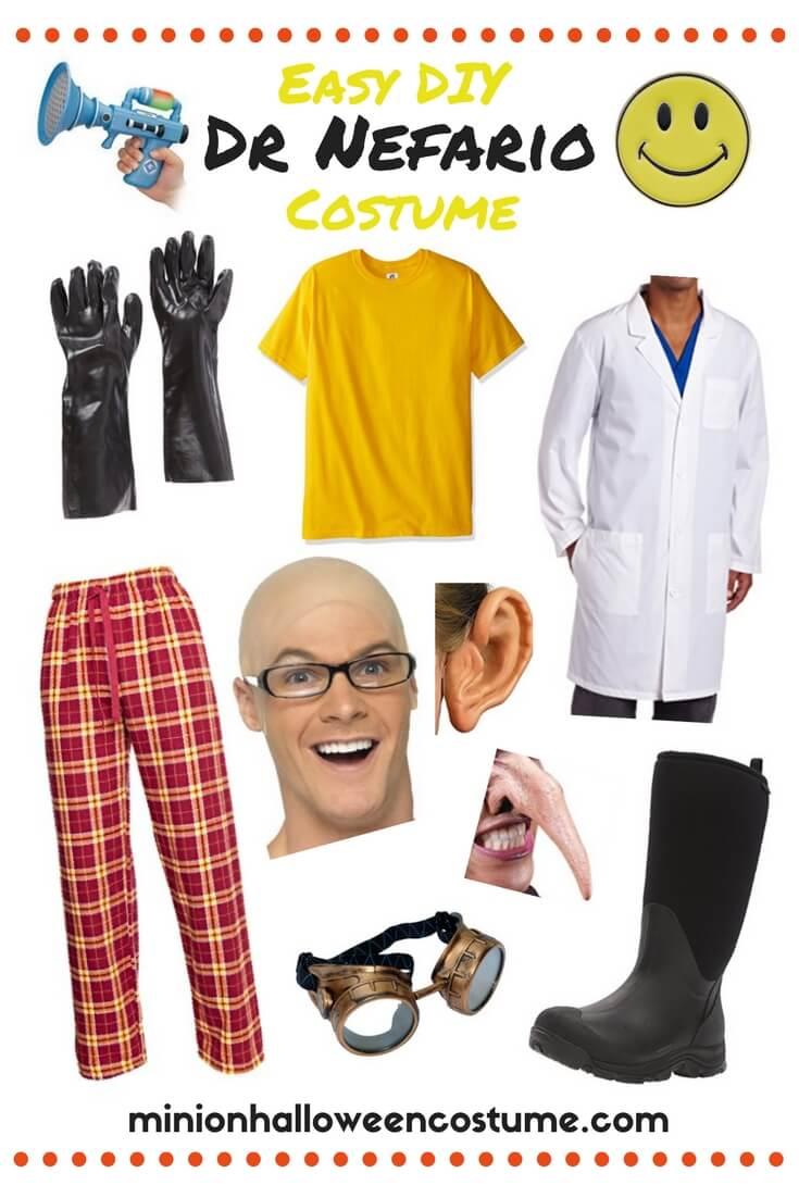 Easy DIY Dr Nefario Costume