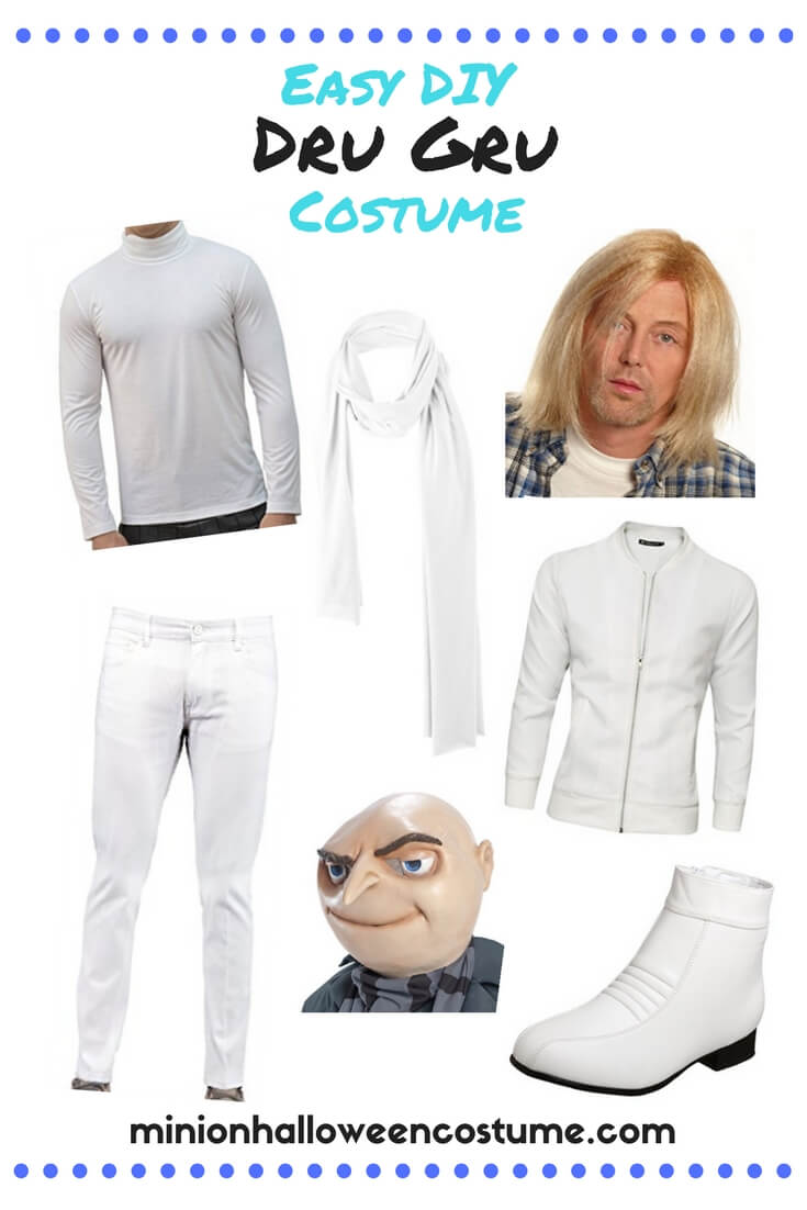 Easy DIY Dru Gru Costume
